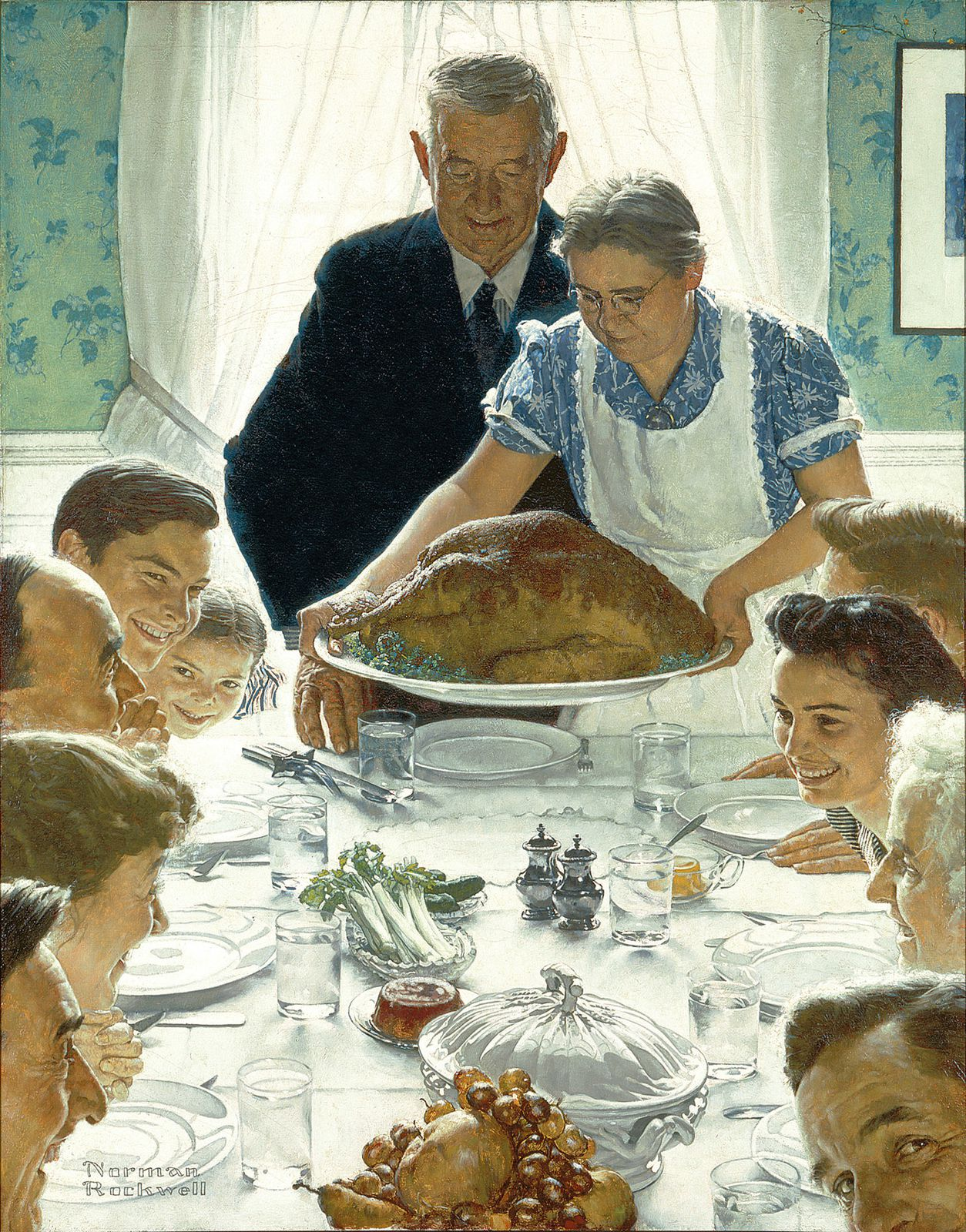 Freedom From Want, Norman Rockwell (1943)