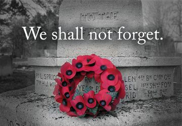 Remembrance Day on November 11th