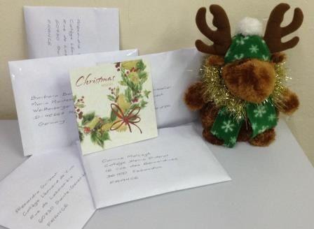 Les cartes de voeux envoyées par les élèves anglais!