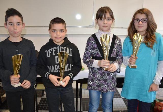 Les quatre champions départementaux par niveaux. - dr