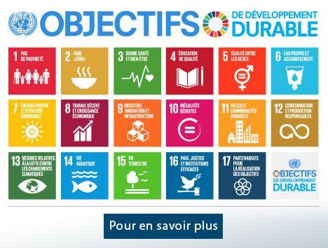Les 17 objectifs de développement durable
