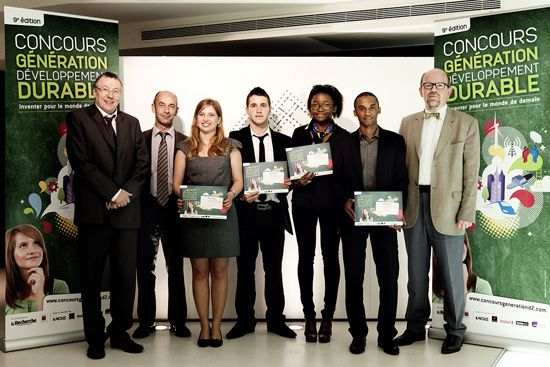 Les 3 gagnants du concours génération Développement Durable
