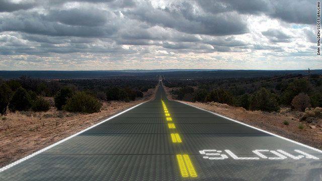 La découverte écolo-écono du mois : les routes produisant de l'électricité!