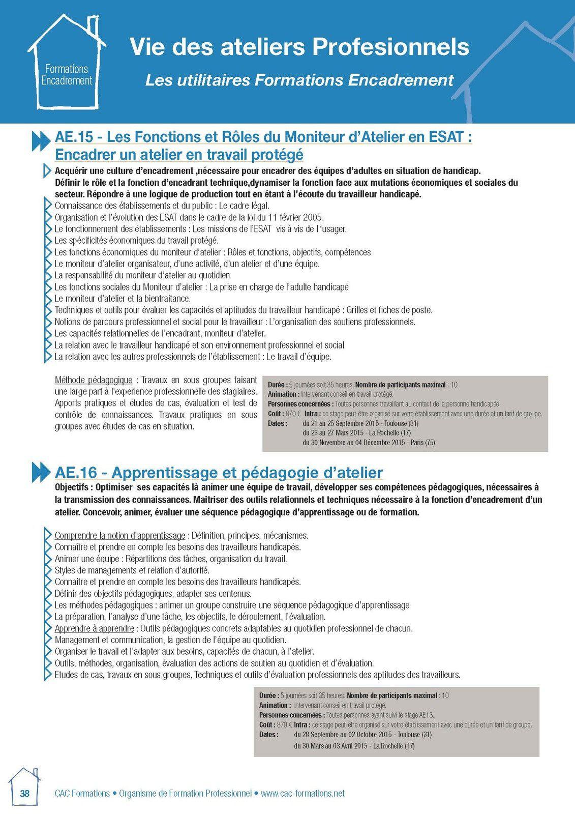 Le rôle des moniteurs d'ateliers en ESAT