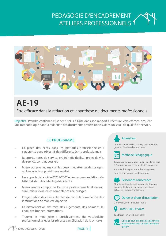 le catalogue des formations professionnelles des professionnels du travail protégé et adapté:www&#x3B;cac-formations.net