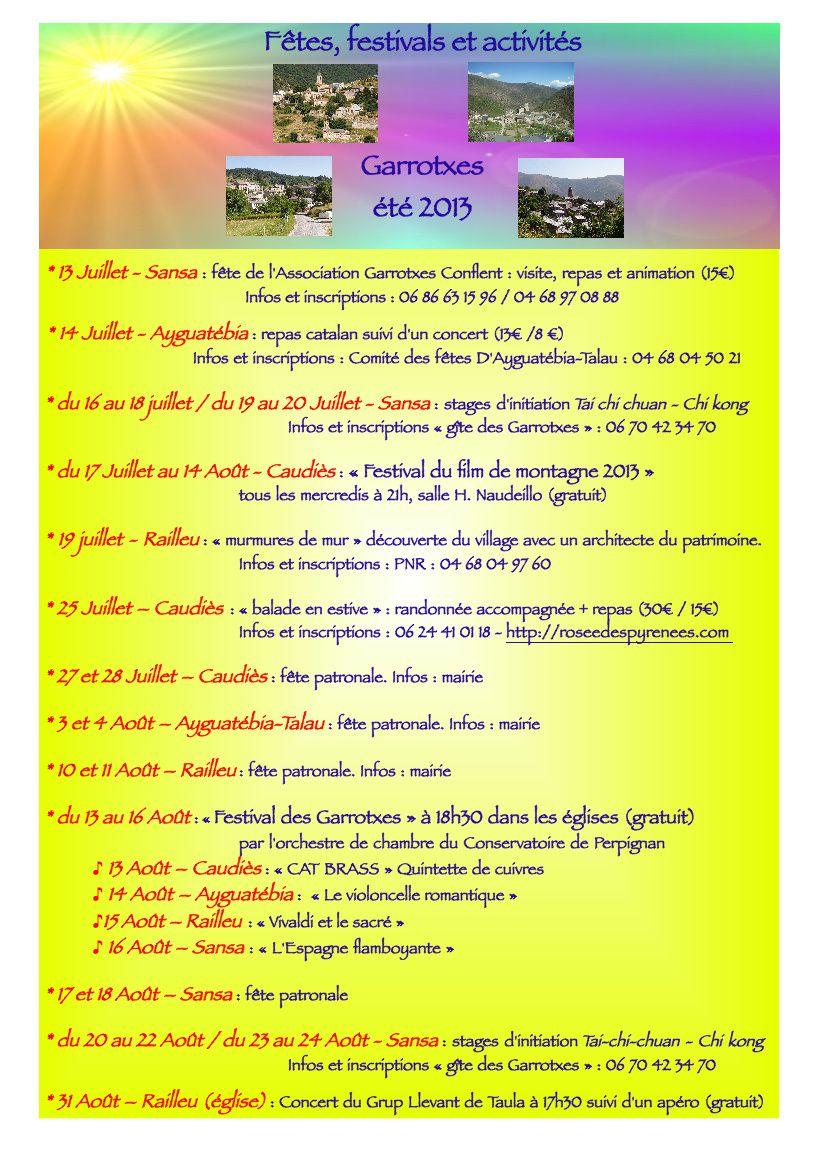 calendrier de l'été