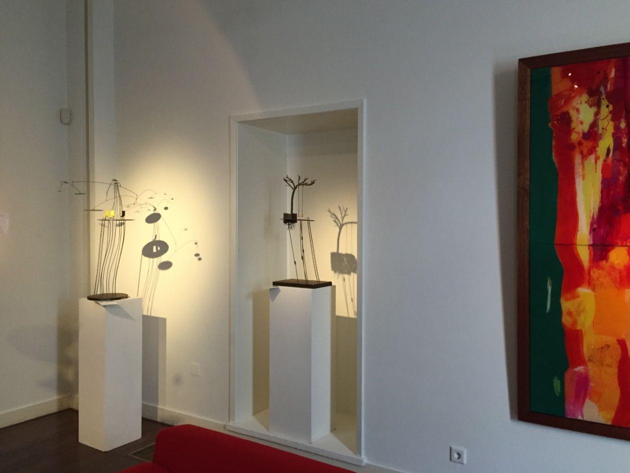 Une douzaine de mes sculptures ponctuent la nouvelle exposition
