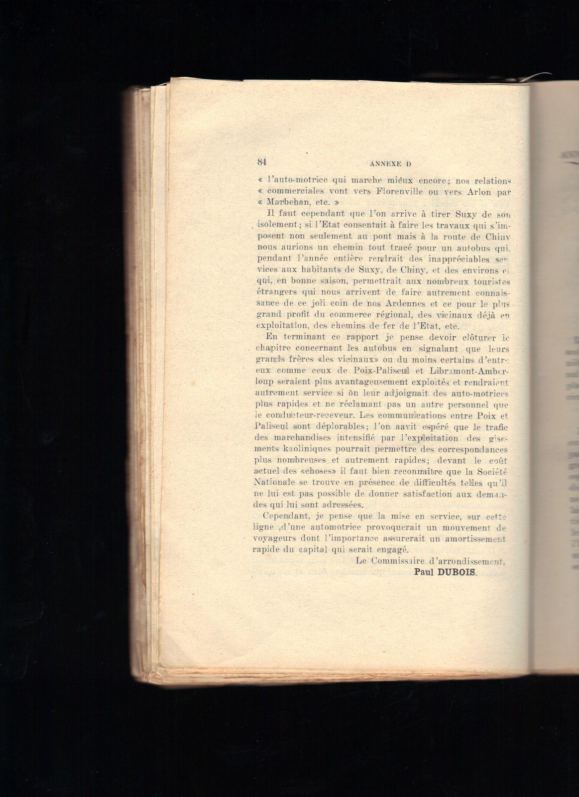 RAPPORT sur la situation administrative de l'arrondissement de Neufchâteau en 1925