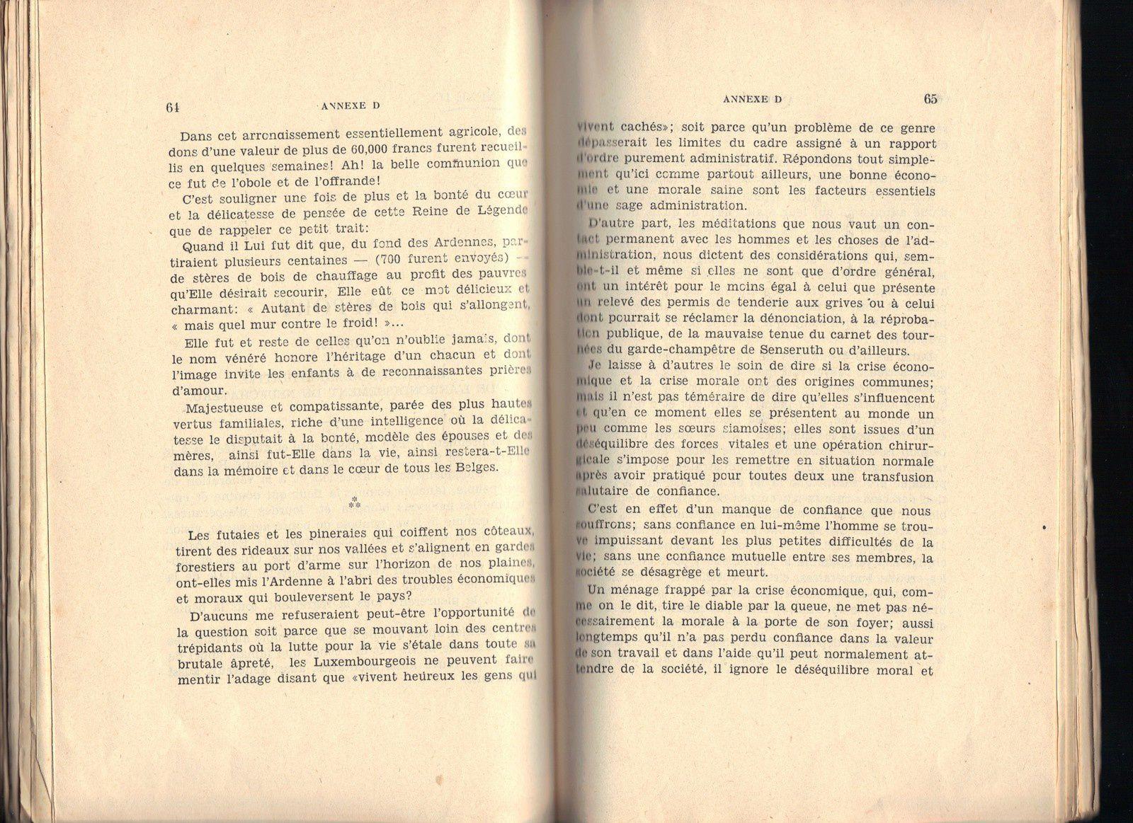 Rapport sur la situation administrative de l'arrondissement de Neufchâteau en 1935