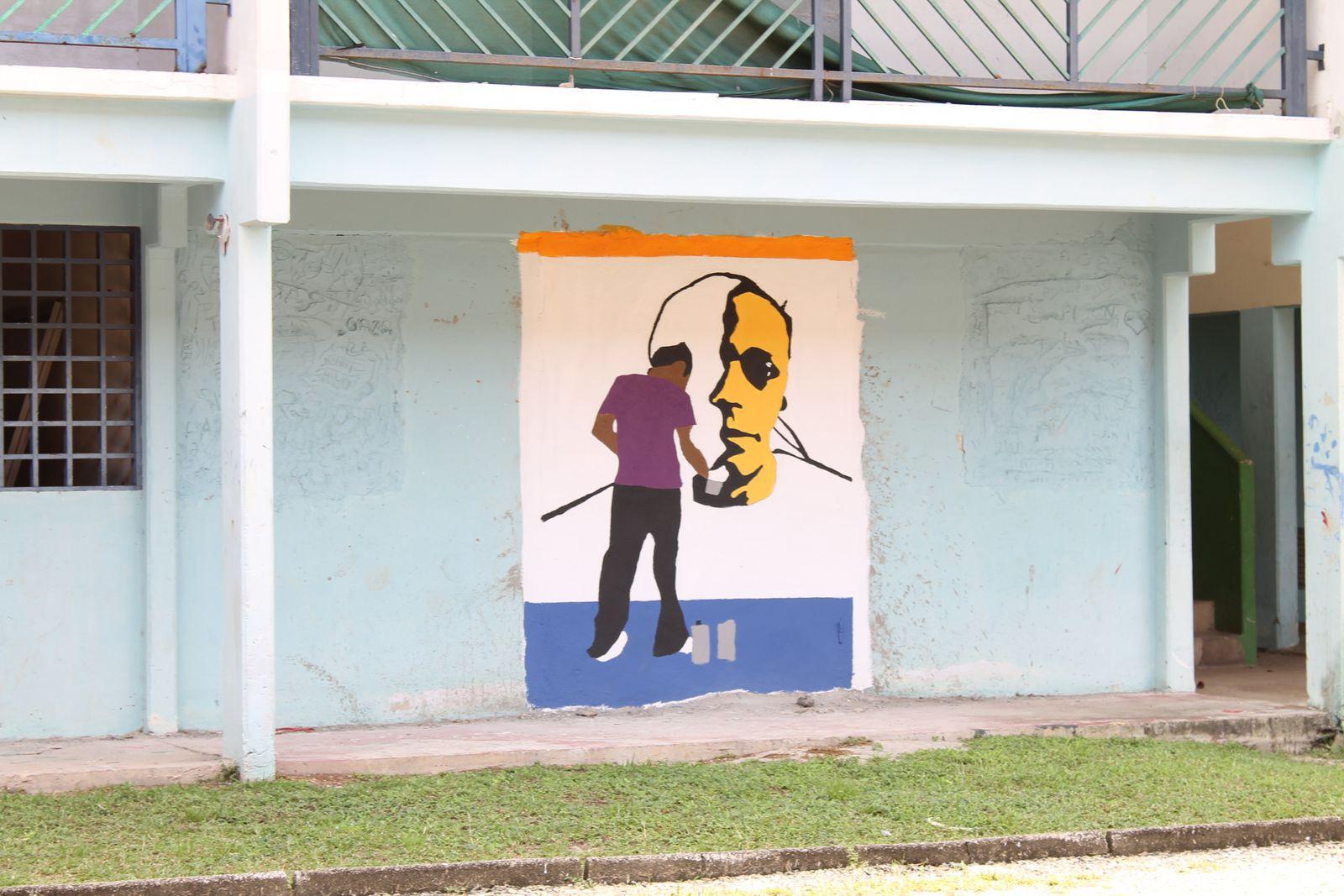 ACI Ouvrier du second oeuvre du BTP (2012-2013) - Réalisation des fresques sur les batiments de Copaya