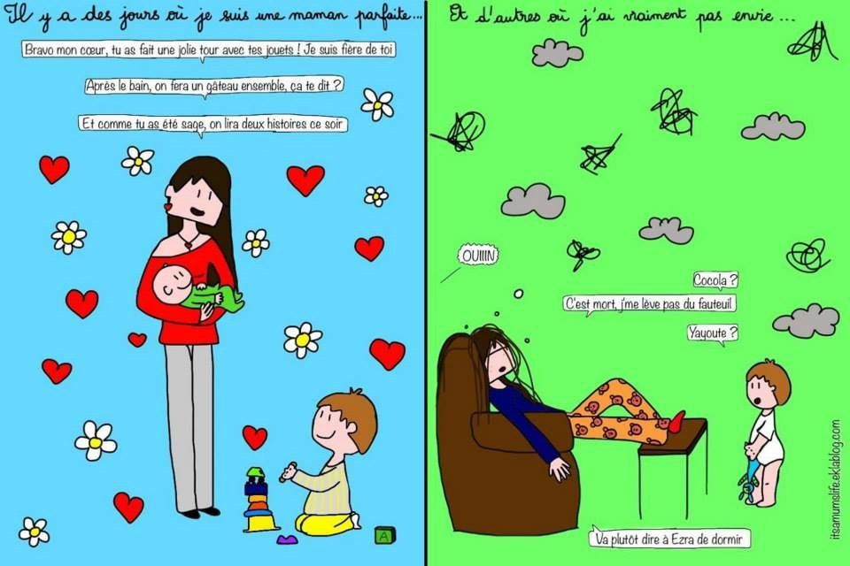 Illustration d'Héloïse de It's a mum's life !