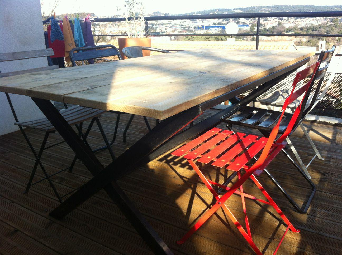 Table de style industriel