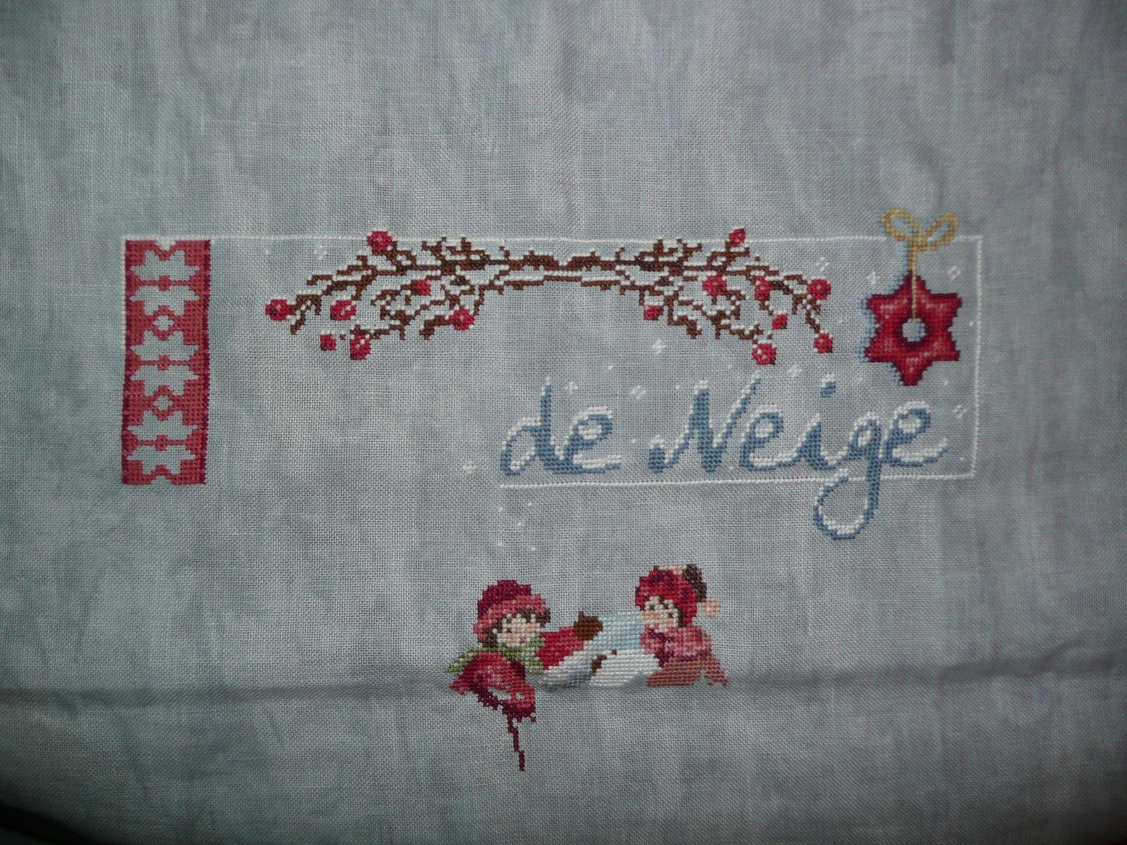 """""""Jour de neige"""" - Motif jacquard (début)"""