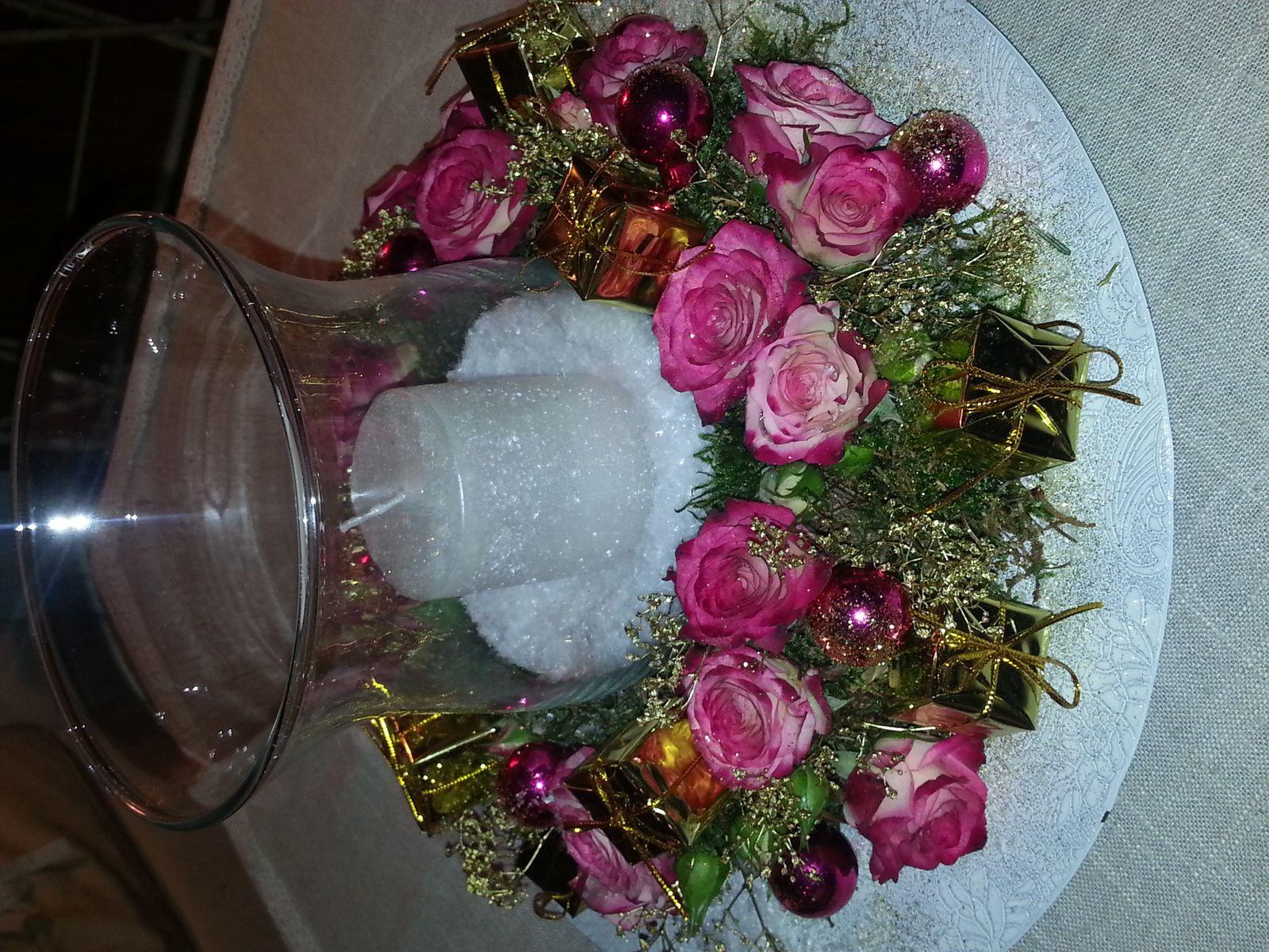 Couronne fleurie de Noël