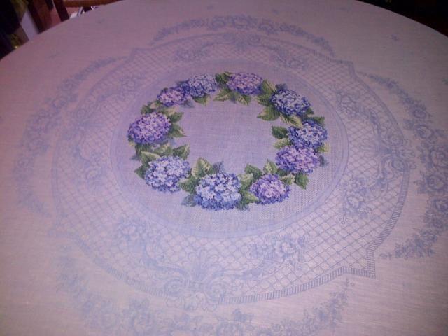 Nappe aux hortensias bleus - Véronique ENGINGER