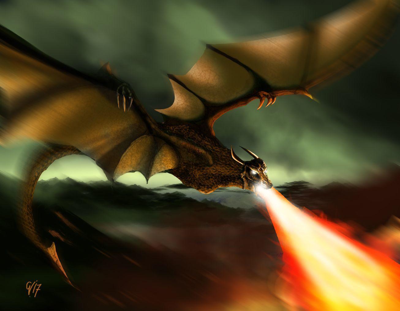 Dessin : Le Feu du Dragon