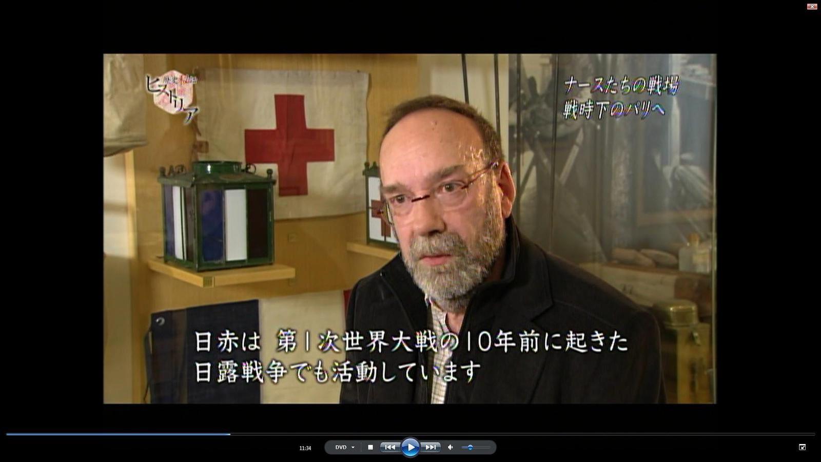 François OLIER lors d'un entretien au Val-de-Grâce pour la NHK dans le cadre de l'émission « Rekishi Hiwa Historia »