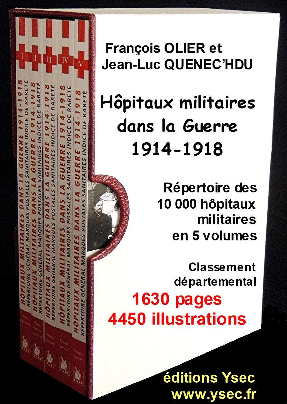 A00 - Les volumes de la collection des Hôpitaux dans la Guerre 1914-1918