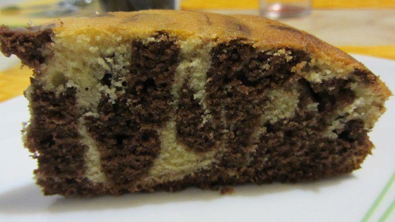 Le gâteau tigré (enfin presque... )