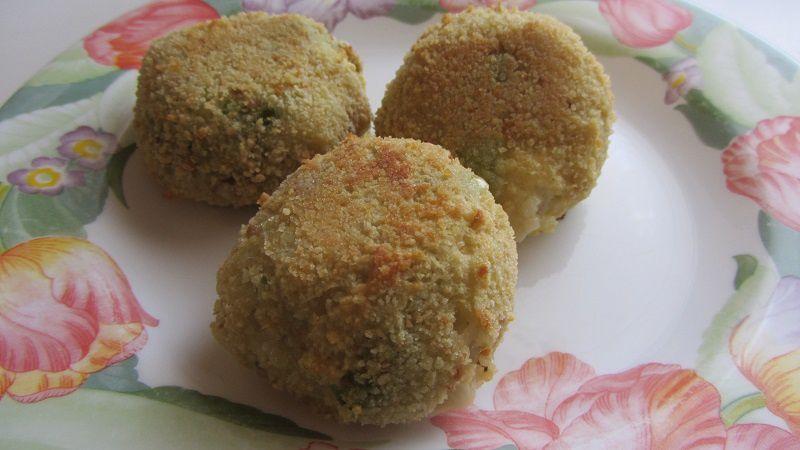 Arancini, avec un reste de risotto aux asperges et au poulet