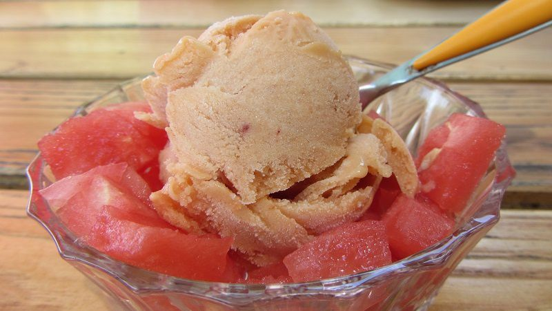 Glace aux abricots et nectarines ultra-light