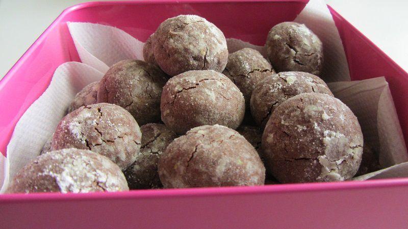 Biscuits au chocolat et aux pistaches de Bronte, et une nouveauté pour les foodista de Montauban