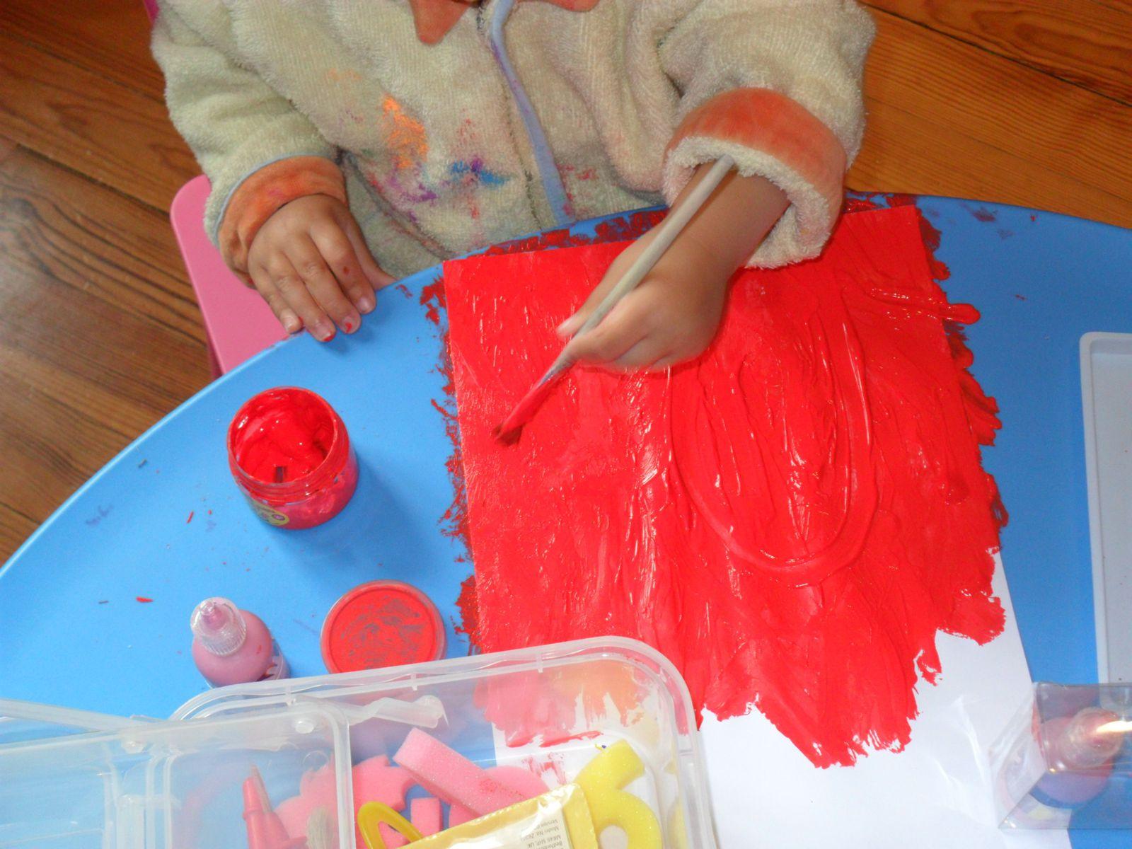 Activités 2-3 ans : la peinture
