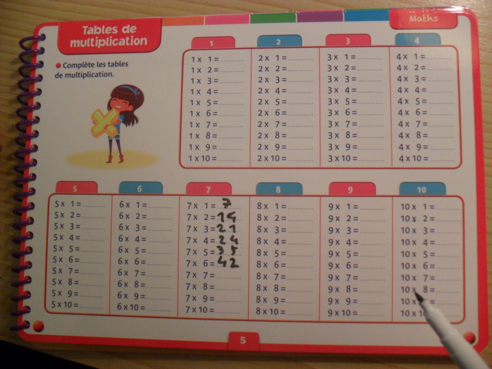 Les tables de multiplications les ateliers de cathy - Tables de multiplication a imprimer ce2 ...