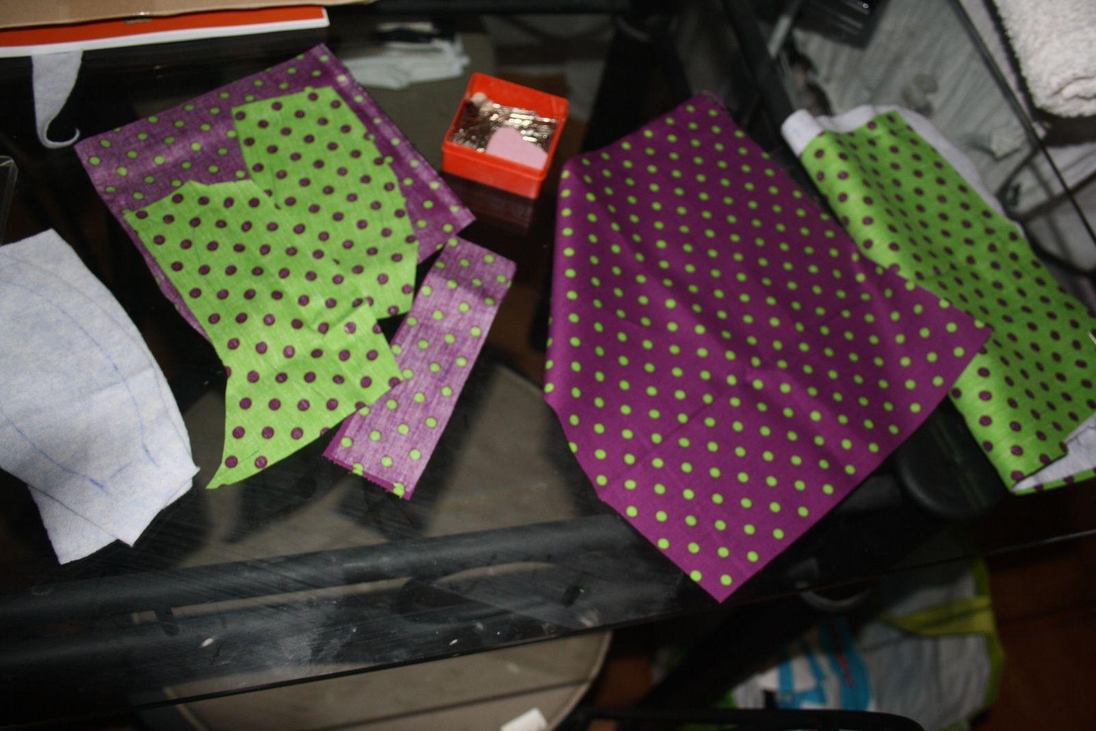 doudou carré lapin vert-violet
