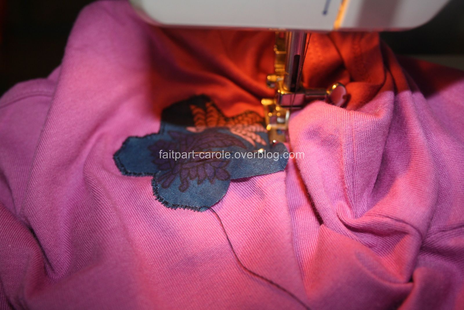 tee-shirt rose avec fleur pour princesse Ambre