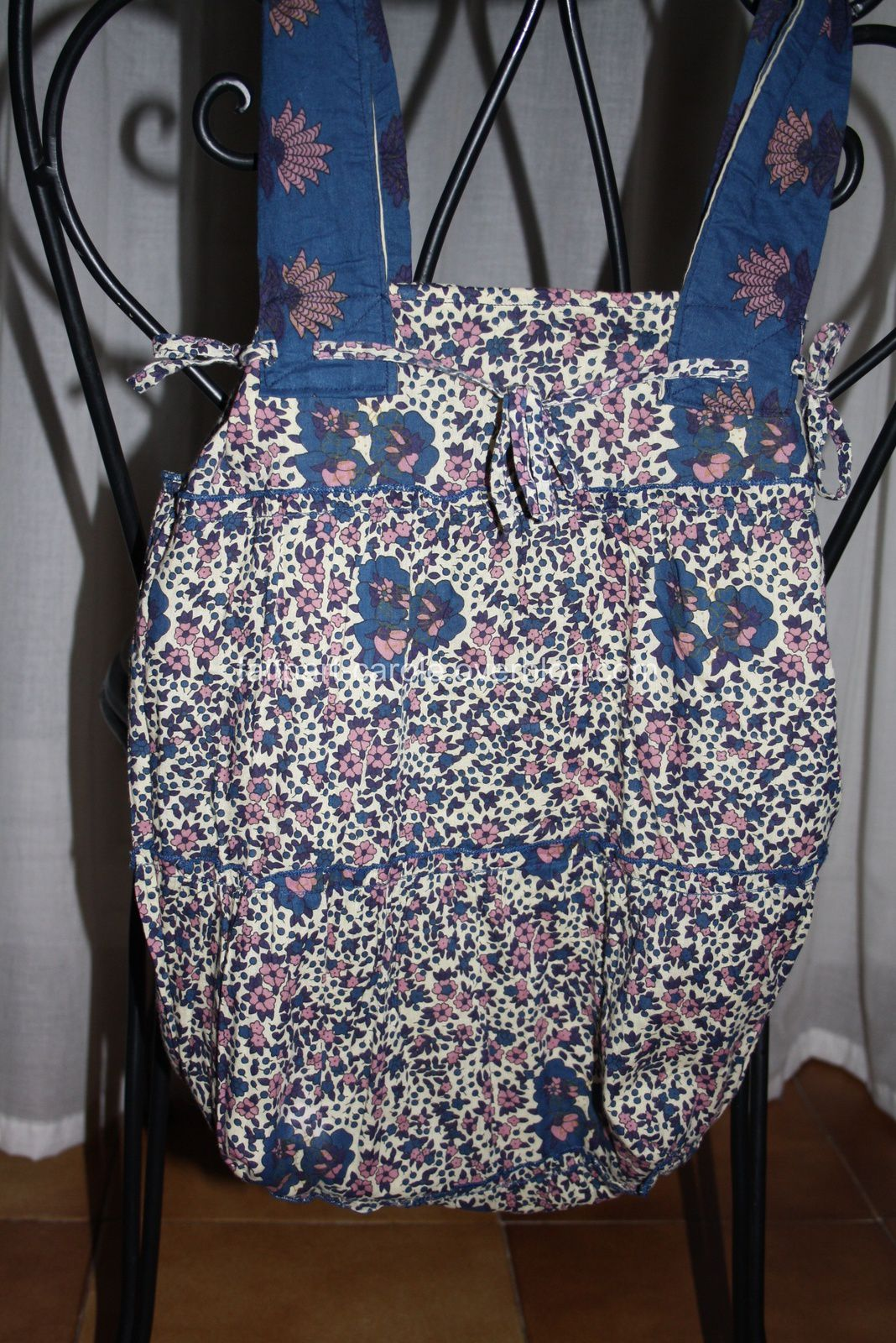 sac de courses tissu fleurs