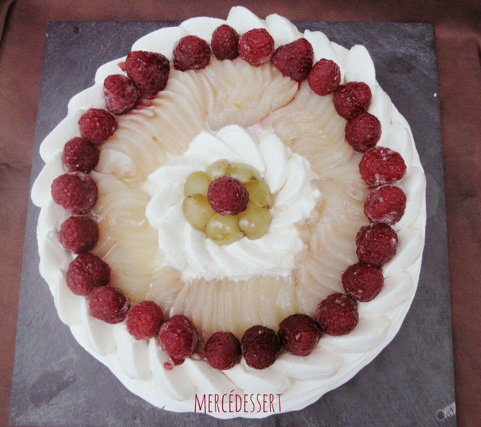 Pavlova aux fruits d'automne (sans gluten)