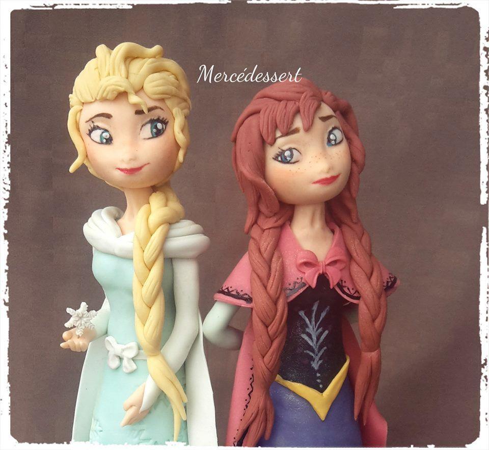 Elsa et Anna Reine des Neiges - figurines de 20 cm environ