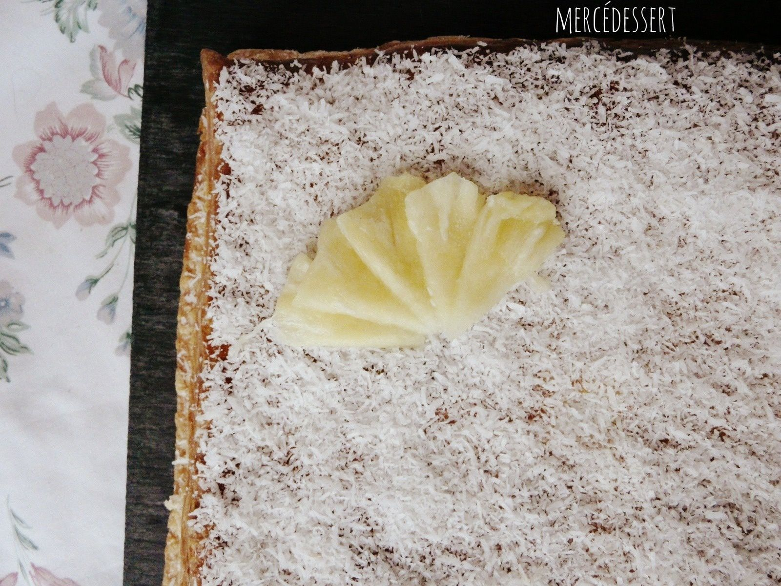 Galette exotique ananas coco
