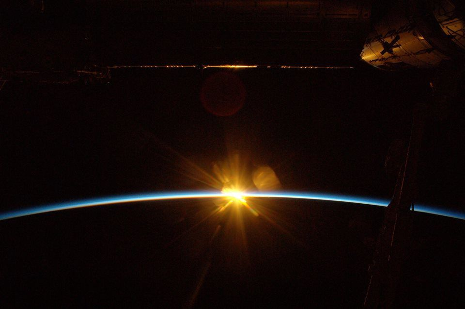"""""""I will never forget the golden reflection of the rising sun on the hull of our ship"""", the astronaut said."""