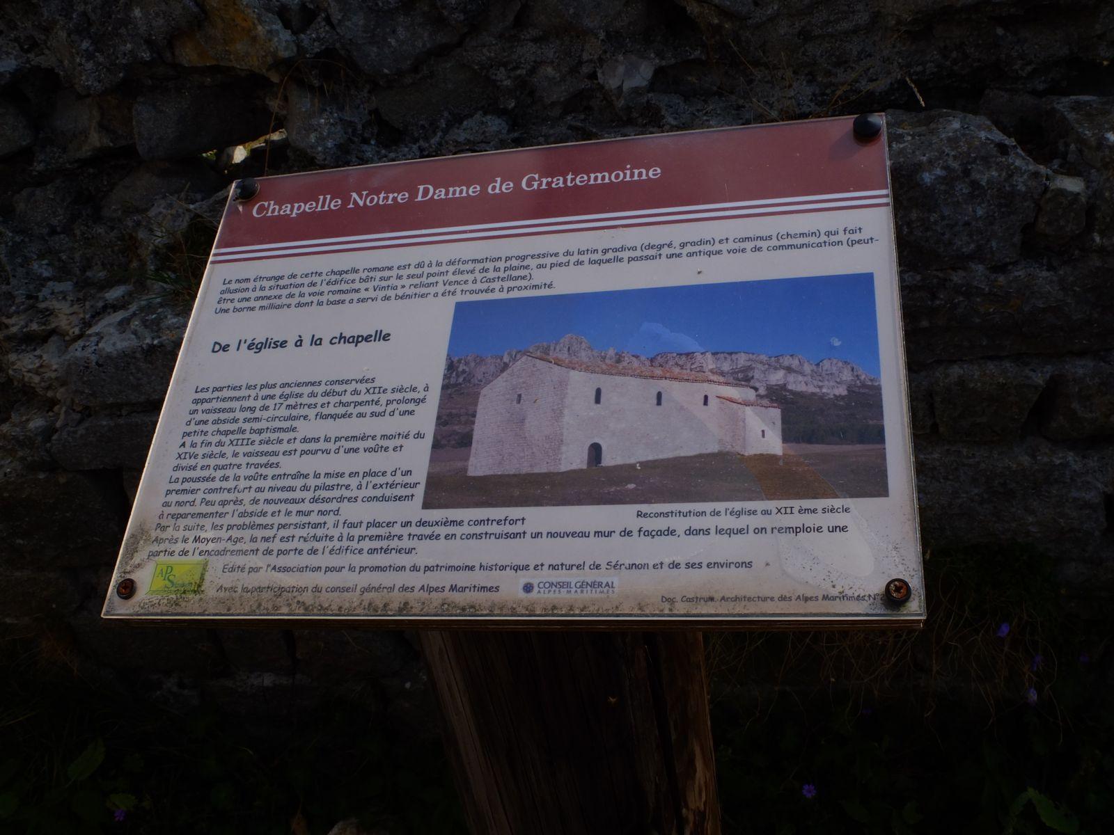DU CASTELLARAS DE THORENC AUX CHAPELLES ST LÉONCE ET GRATEMOINE