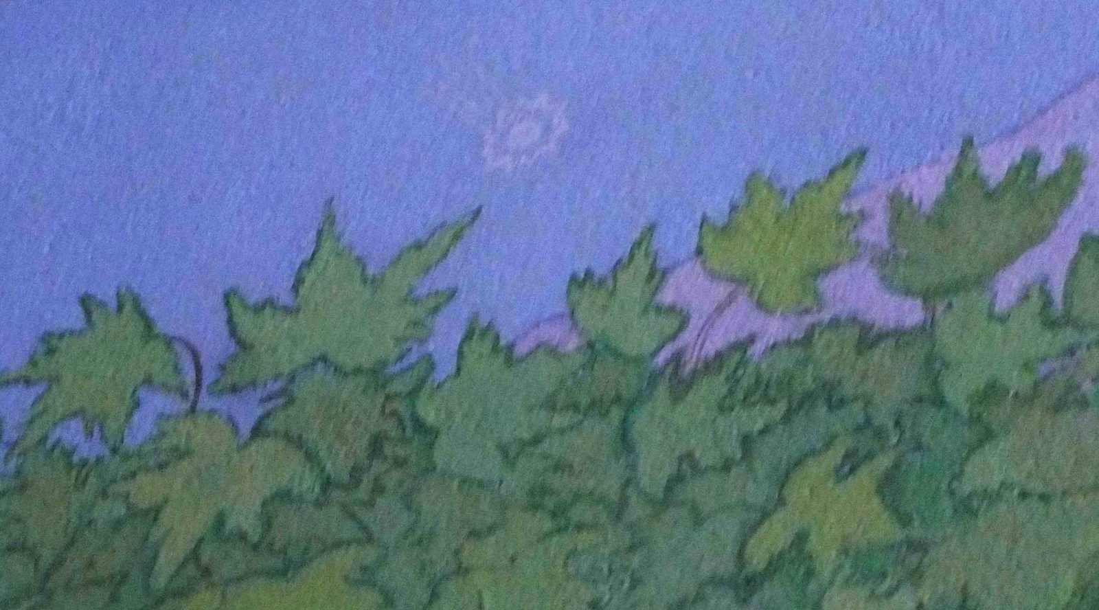 Détail de la fresque avec la comète de Halley - photo M.C