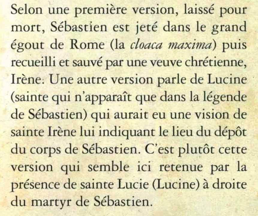"""Extrait du livre """"La chapelle Saint-Sébastien de Coaraze"""" -  Michel Borsotto - Bernadette Griot"""
