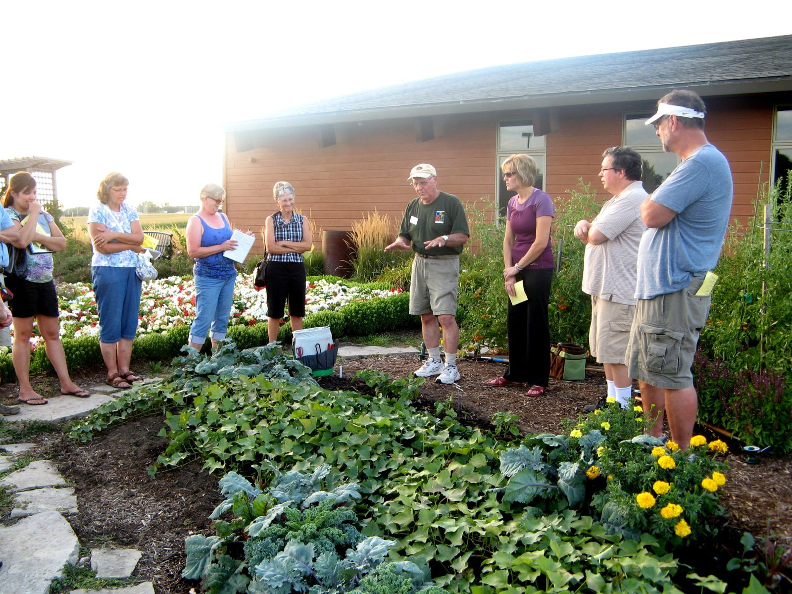 Homegrown Lifestyle Network members tour the Linn County Master Gardener Demonstration Gardens at Lowe Park.