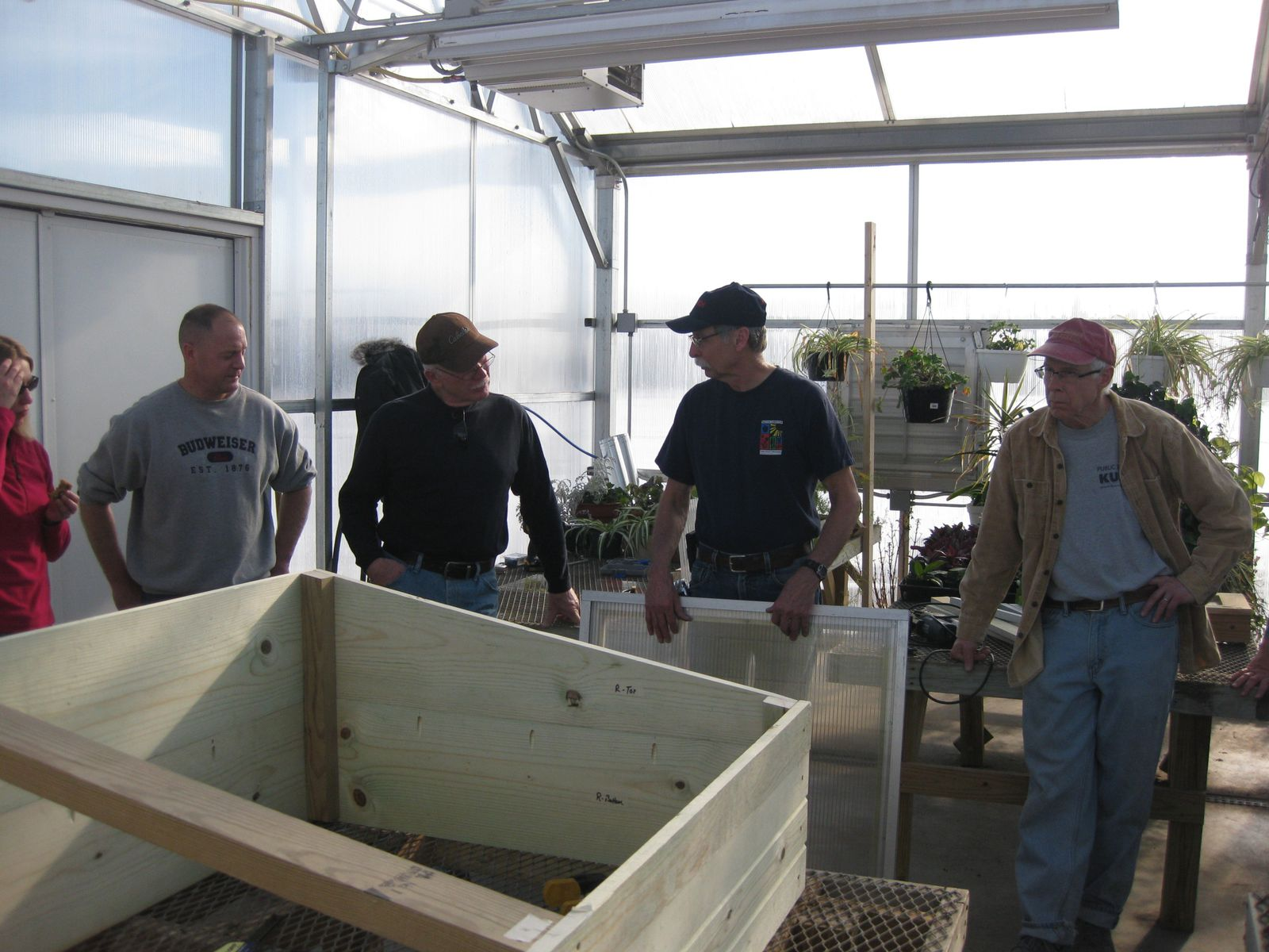 Assembling the cold frame.
