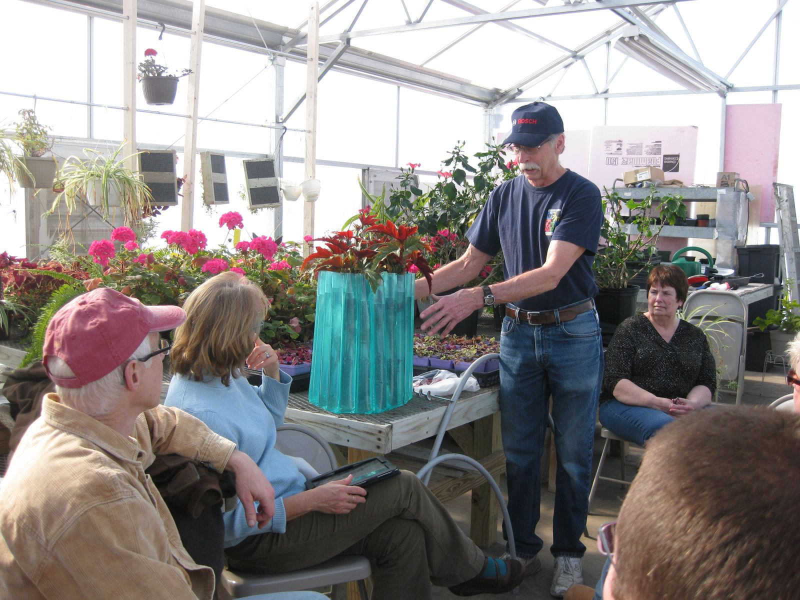 Phil Pfister explains how to use a Wall-of-Water to protect plants so you can plant earlier and harvest later.