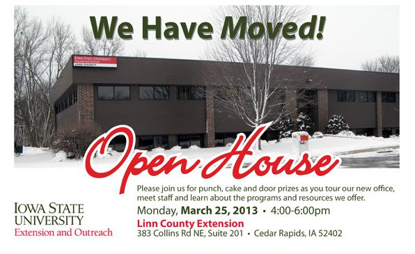 ISU Linn County Extension invites you to an Open House!