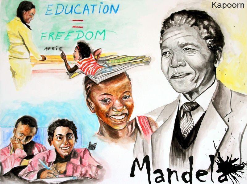 Write Africa &quot&#x3B;Nelson Mandela : Education = Freedom / &quot&#x3B;Education = Liberté&quot&#x3B;&quot&#x3B;