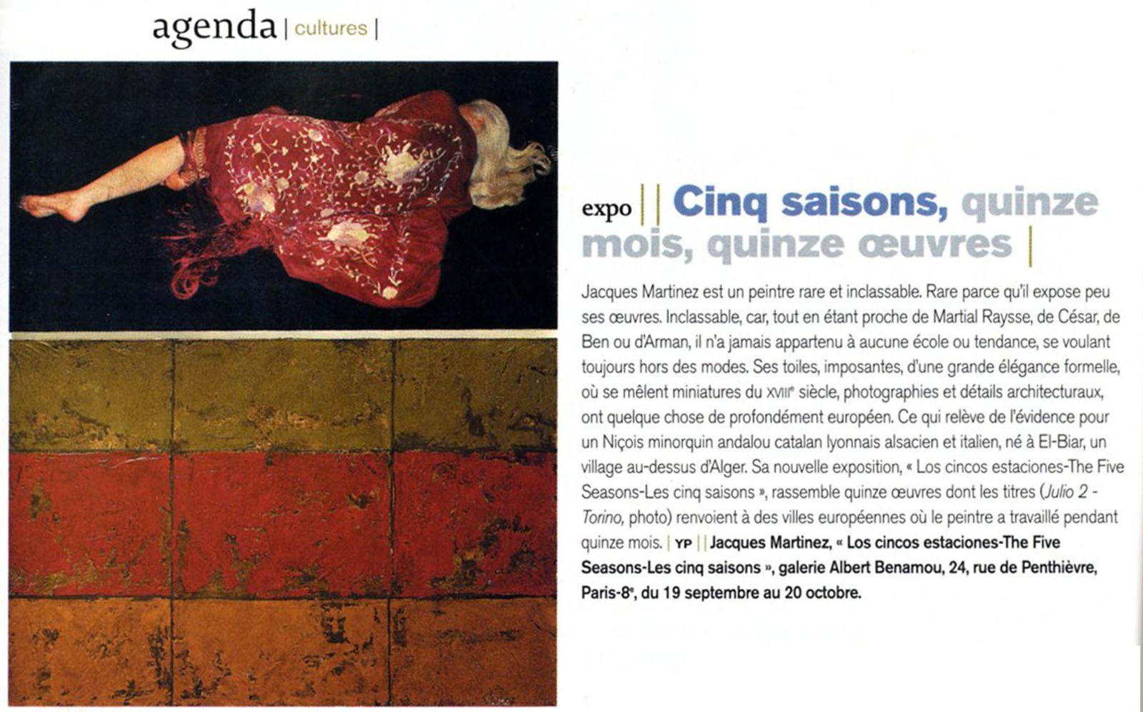 """Julio - Torino Afternoon"" : l'une des oeuvres de ""Cinc estacions""."