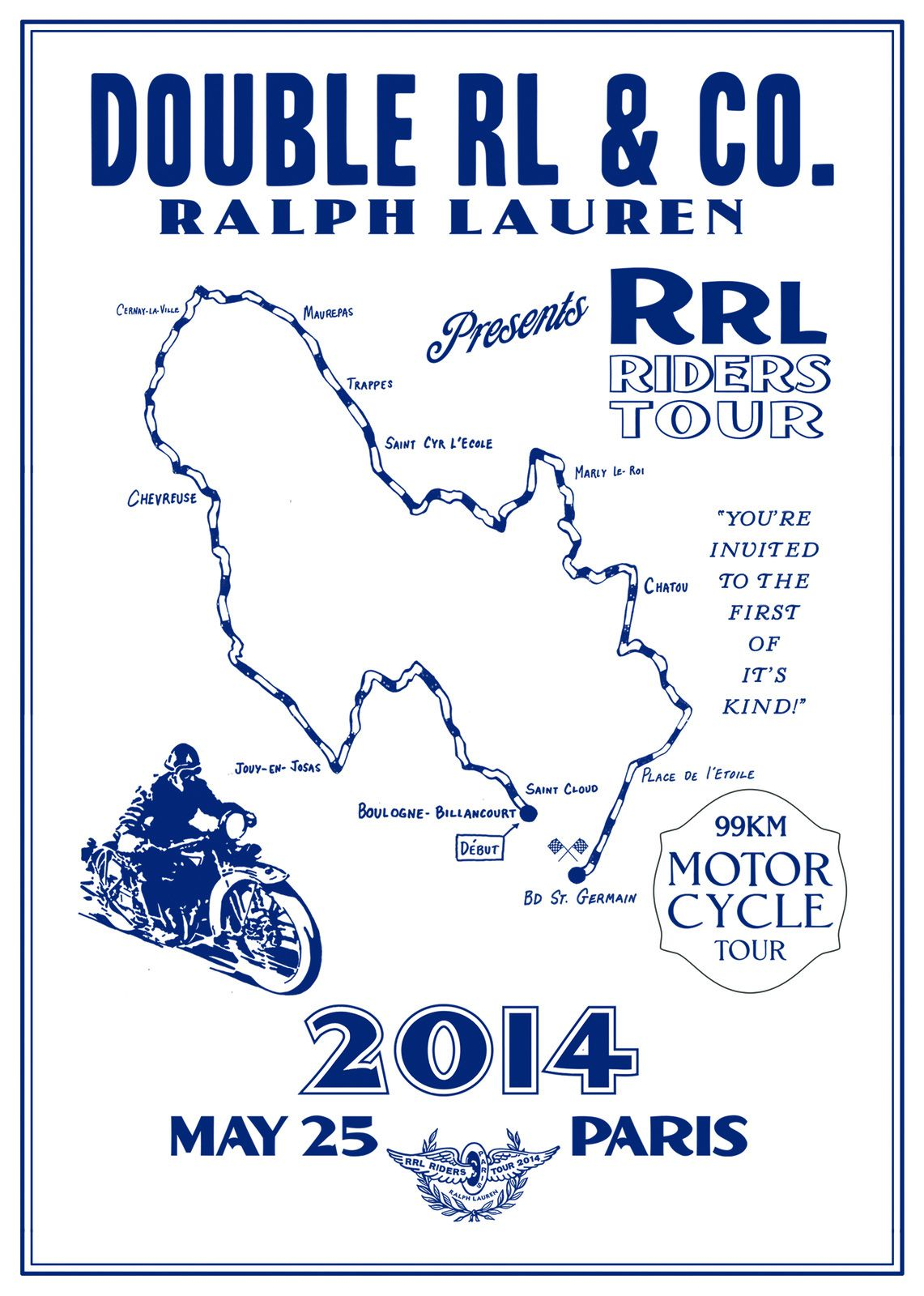 RRL Riders Tour - Ride Ralph Lauren à Paris le Dimanche 25 Mai