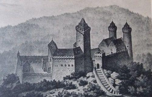 Le Landsberg, reconstitution 'romantique'