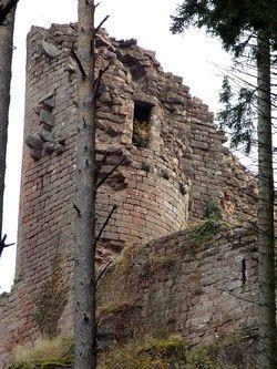 Les donjons des châteaux de Dreistein