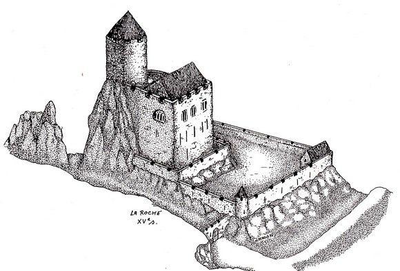 Restitution du château de La Roche par N. Mengus