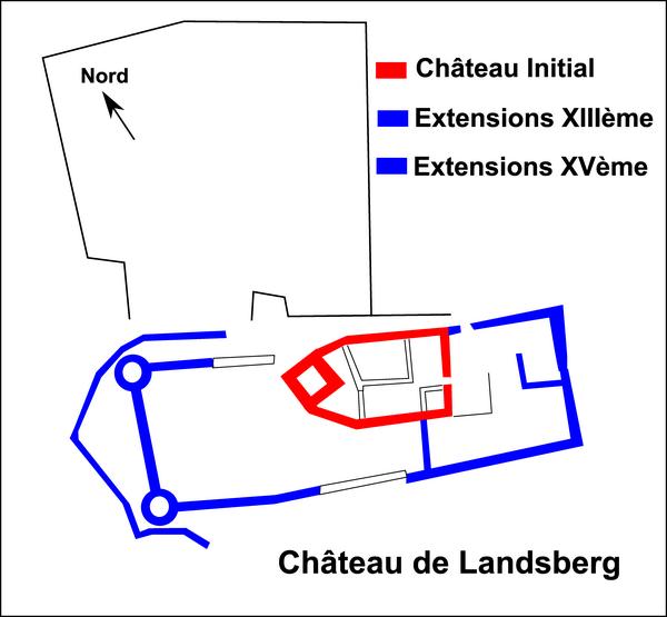 Edelinde et le château de Landsberg