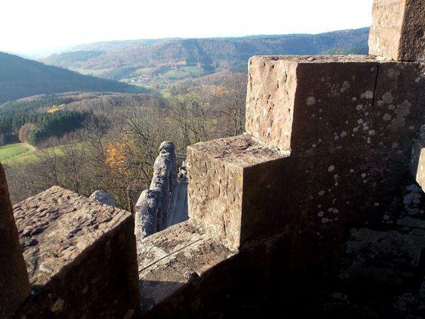 En haut du donjon du Hohengeroldseck